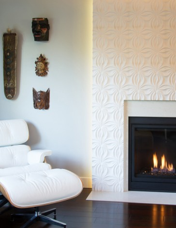 N fireplace cover